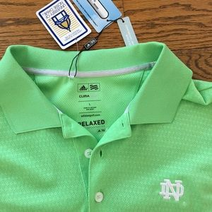 Adidas Notre Dame Lime Green long sleeve size L